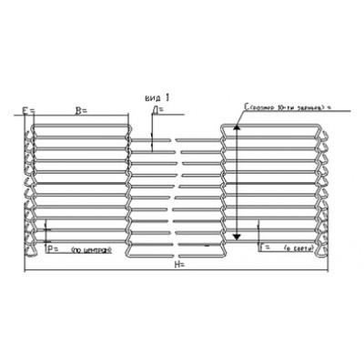 Сетка транспортерная глазировочная (тип 11)