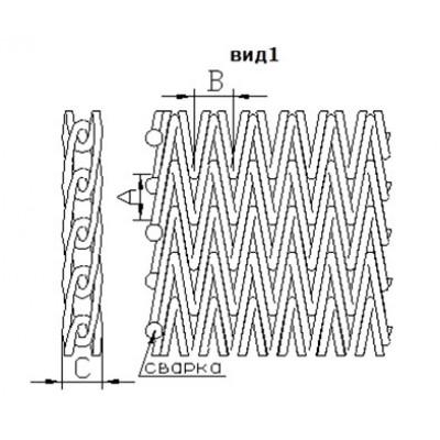 Сетка транспортерная сборная двойная (тип 4)