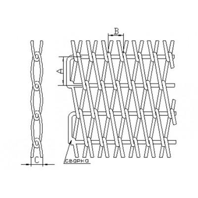Сетка транспортерная сборная одинарная (тип 8)