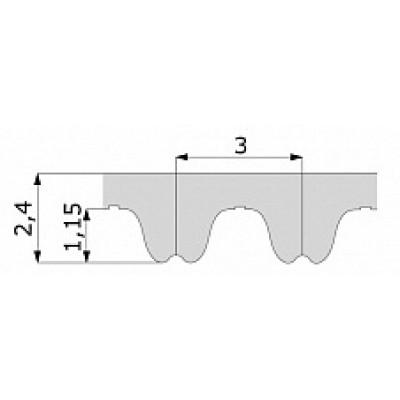 Зубчатый ремень 480 RPP3