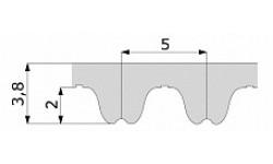 Зубчатый ремень 1000 RPP5