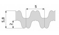 Зубчатый ремень 1000 RPP5 DD