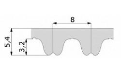 Зубчатый ремень 1040 RPP8