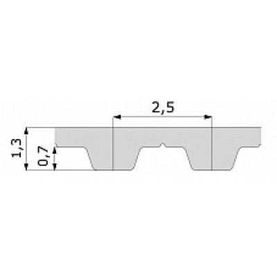 Зубчатый ремень T 2.5 680